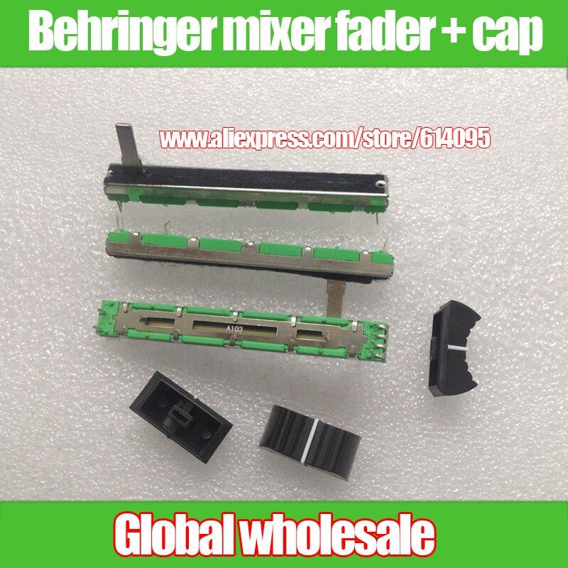 Двухканальный Behringer Soundcraft mixer fader, 10 шт., 2 канала, A10K, оригинал, 7,5 см, 7,5 см, 75 мм, A10KX2, потенциометр A103, 6pin, 10KA