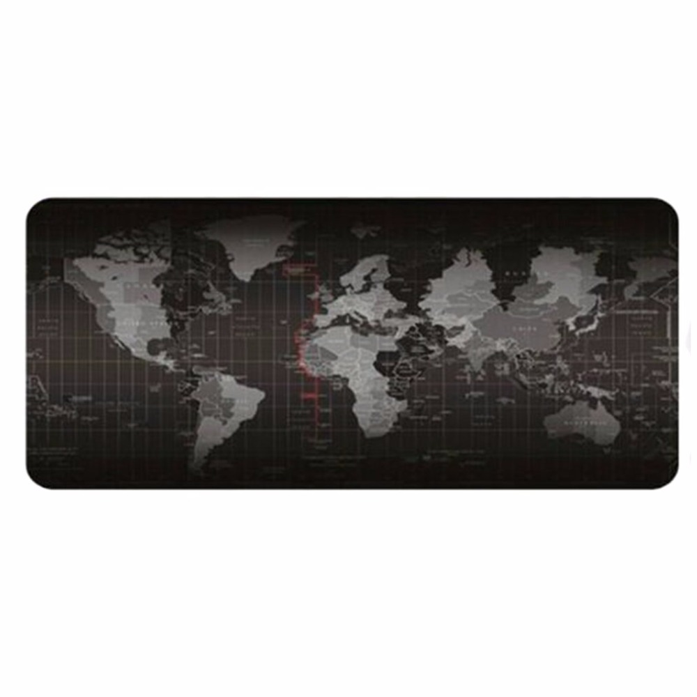 300*700*2mm Super Large Size Keyboard Mat World Map Pattern Gaming Computer Mouse Keyboard Rubber Mat Pad Table Pad