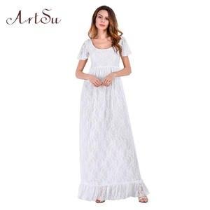 c98757fcd6 ArtSu Lace Dresses For Women Elegant Summer Long Maxi Dress