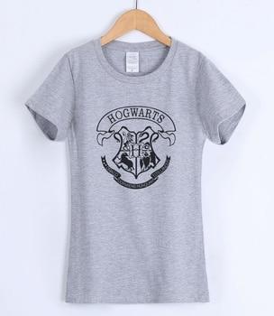 HOGWARTS Print 2018 Women T-shirts Fashion Casual Short Sleeve Tee Shirt For Lady Slim Various Colours Available Female T-shirt 2