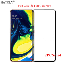 2PCS For Samsung Galaxy A90 Glass Tempered for Film Full Glue Screen Protector