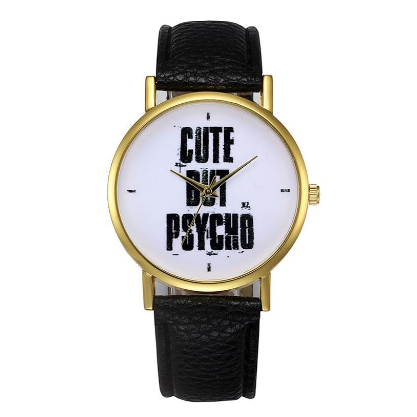 Fashion Womens Retro Design Leather Band Analog Alloy Quartz Wrist Watch 2018 Selling fashion watches watch  quartz