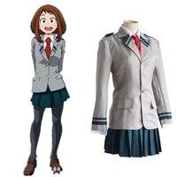 Anime Boku no Hero School Uniforms My Hero Academia Ochaco Uraraka Izuku Midoriya Shoto Todoroki Katsuki Bakugou Cosplay Costume