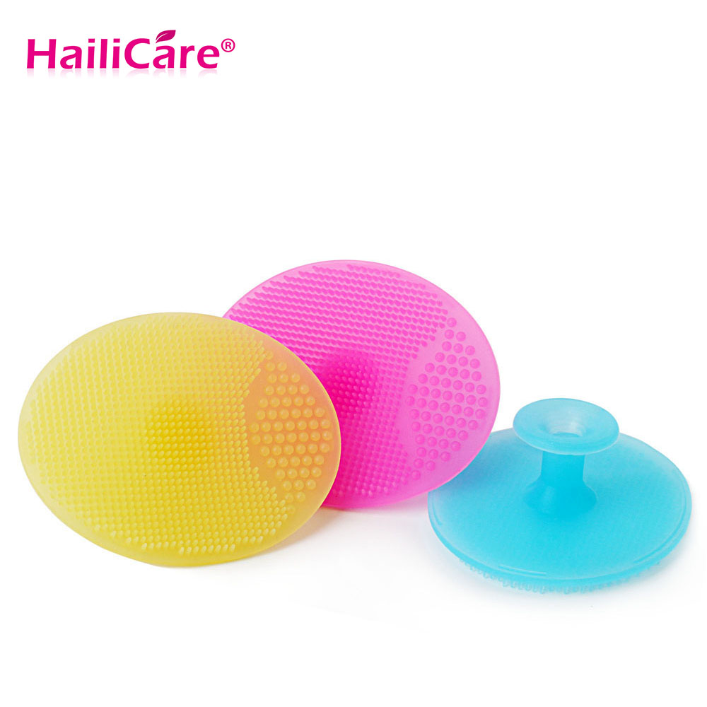 3 pcs/set Facial Exfoliating Brush Soft Silicone Face Wash Cleaning Pad Skin Care SPA Scrub Cleanser Tool Wash 2 pcs face wash brushes soft facial cleaner design health beauty silica gel cleaning your nose effectively be fixed on the shelf