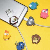 Tier Kabel Protector USB Ladegerät Daten Linie Schnur Schutz Abdeckung Sleeve Kabel Winder für iPhone Huawei Samsung Ladegerät Kabel