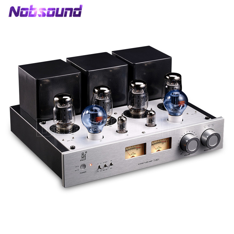 Nobsound Latest Hi-End KT88 Push-pull Tube Amplifier Audio HiFi Stereo Class A Single-ended Power Amp 50W+50W music hall latest muzishare x7 push pull stereo kt88 valve tube integrated amplifier phono preamp 45w 2 power amp