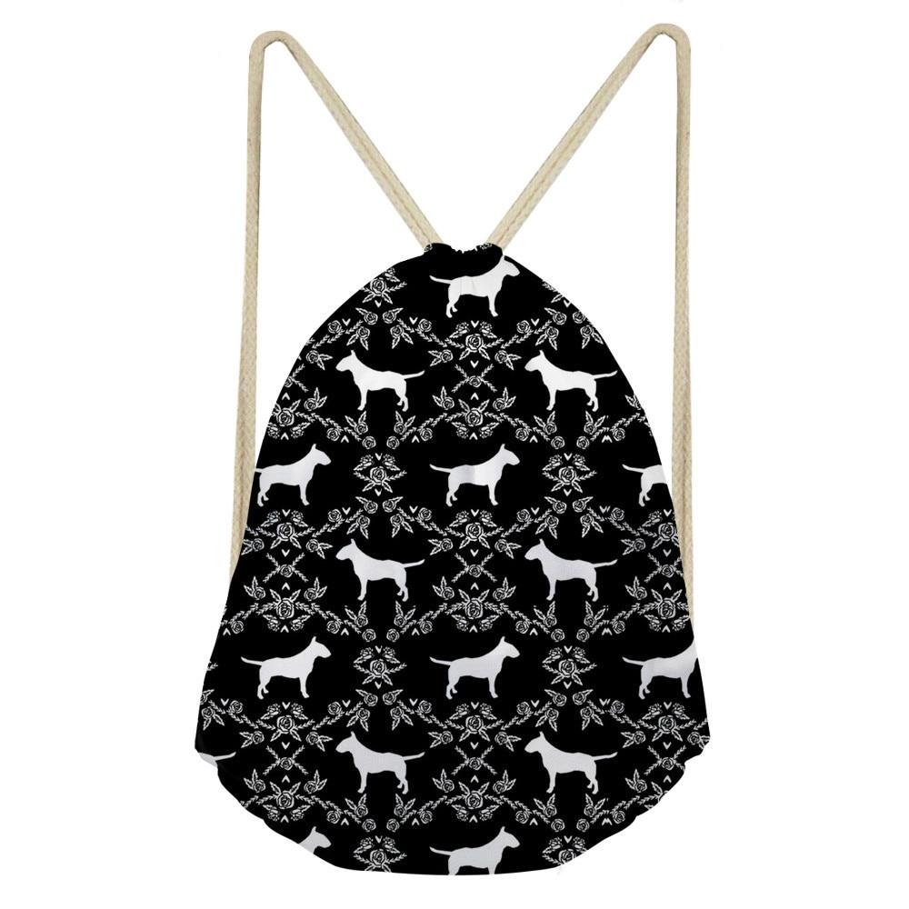 ThiKin Bull Terrier Classic Fashion Animal Girl Backpack Printing Women Travel Mochila Backpacks Men s Bags