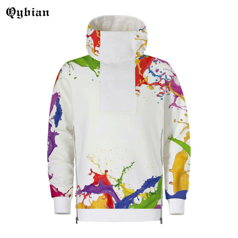 3D Spilt Paint Printed Harajuku Hoodies Cool Pullover Coat Jacket Unisex Sweatshirt