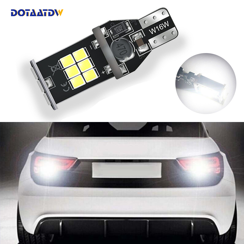 1x T15 W16W LED Auto Lamp CANBUS White 3030SMD Backup Reverse Light No Error For audi A1 A3 A4L A6L A5 A7 Q3 Q5 Q7 S5 TT