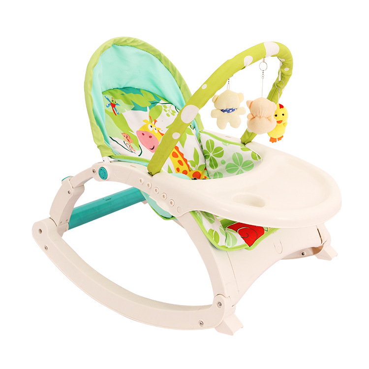 Chaise berçante de bébé nouveau-né de fonction Multi avec la plaque de musique de bande de Vibration berceau de videur de lit à bascule de chaise d'oscillation de bébé nouveau-né
