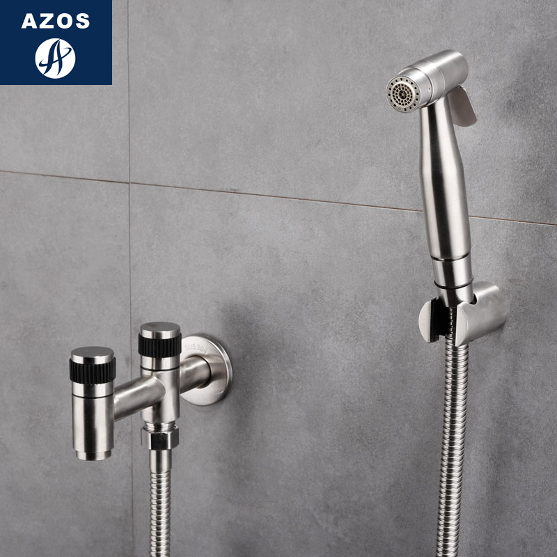 Azos Bidet Faucet Pressurized Sprinkler Head Stainless Steel Stainless Steel Cold Water Two Function Washing Machine Pet Bath La