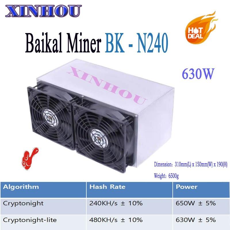 ASIC miner BK-N240 Baikal Giant N240 Cryptonight 240KH/S Cryptonight-lite 480KH/S 630W Better Than Atminer S9 Z9 X3 Giant N70