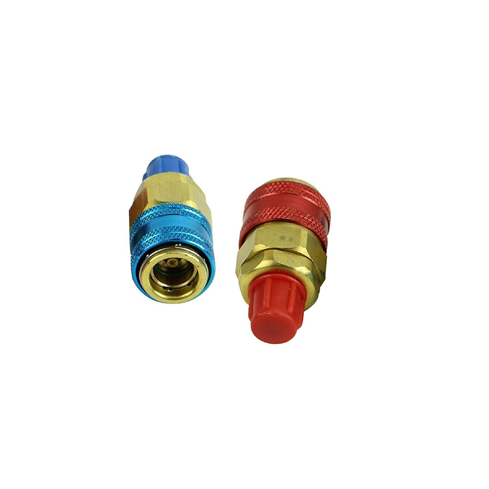 Quick Coupler Brass Connector Adapters Freon QC12 R134A H/L Auto Car Manifold Air Conditioning Refrigerant  Adjustable