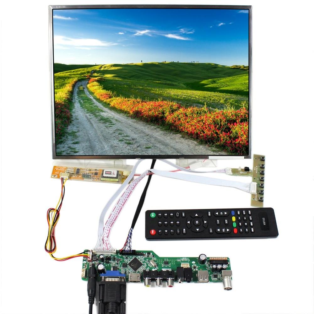 TV+HDMI+VGA+AV+USB+AUDIO LCD Controller Board T.V56.03 With 14.1inch LTN141XF LP141XA N141X6 1024x768 LCD Screen hdmi vga av audio usb fpv controller board for 9 7inch ltn097xl01 1024x768 lcd screen model lcd for raspberry pi