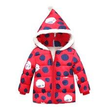 Hiver Enfants veste Léopard pleine douille À Capuchon En Coton bébé Au Chaud manteau filles veste Rouge à capuche de Survêtement Veste Pour Les Filles Enfants
