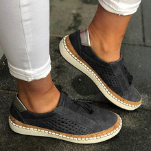2019 New 1 Pair Women Slide Hollow-Out Shoes Round Toe Casual Breathable Sneakers TY66