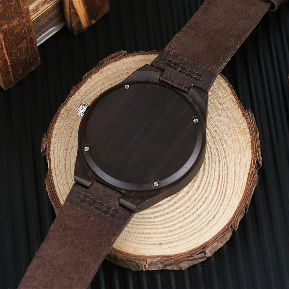 coffee color wood watch casual men12