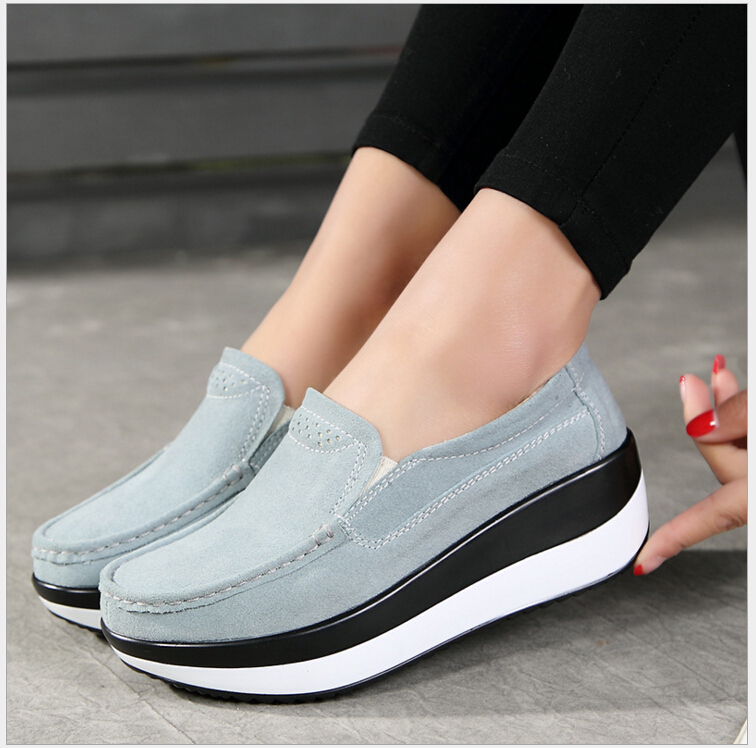 2017 Sping Women genuine leather shoes  female wholesale flats shoes girl casual comfort low heels flat loafers platform shoes handmade genuine leather women s shoes national trend flower low top sheepskin shoes women flats platform flat heels shoes