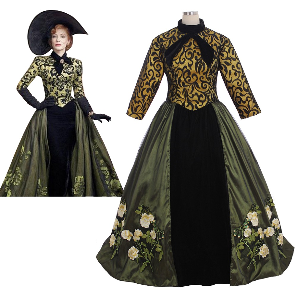 Cosplaydiy Movie Cinderella Stepmother Cosplay Costume Dress Palace Ball Gown Costume Halloween Dress L320