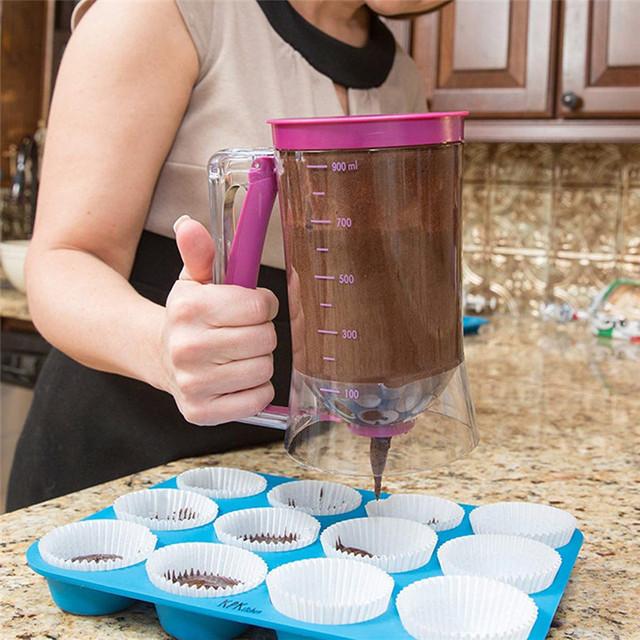 Food Grade Plastic Purple Dough Cupcake Cake Batter Dispenser