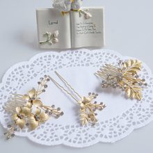 Trendy headband women forehead crystal floral hair ornaments pearl jewelry gold color leaf handmade wedding accessories 3pcs/set(China)