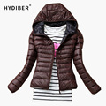 2016 Autumn Winter fashion Women Basic Jacket Coat Female Slim Hooded Brand Cotton Coats Casual Black Jackets women tops