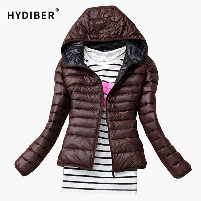 2016 Autumn Winter fashion Women Basic Jacket Coat Female Slim Hooded Brand Cotton Coats Casual Black Jackets women tops