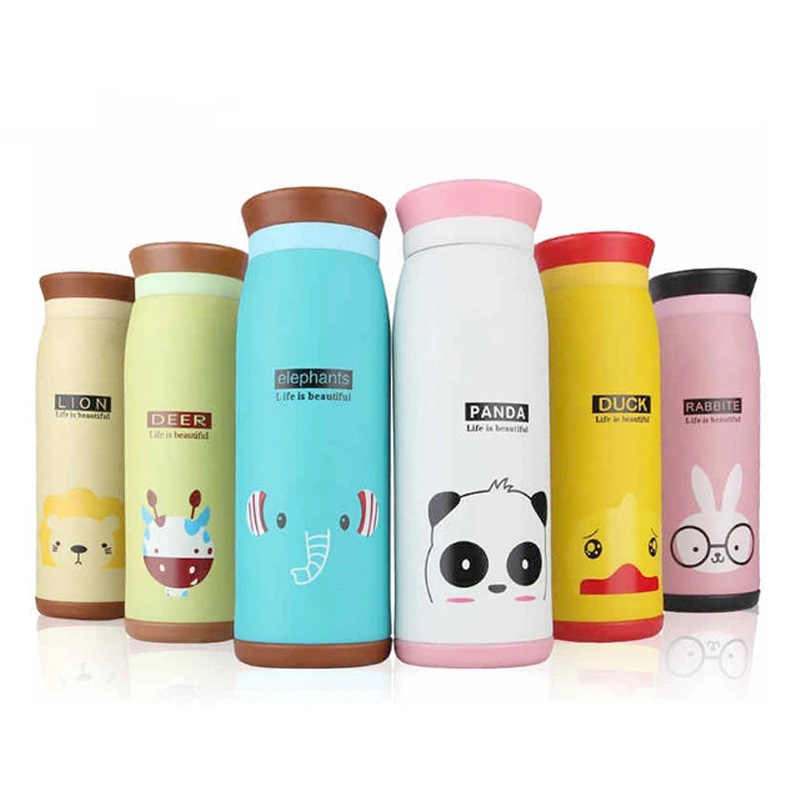 Cartoon Thermos cup kids thermal Bottle Stainless Steel Vacuum flask Cups With Lid coffee tea Termos flask children belly mug
