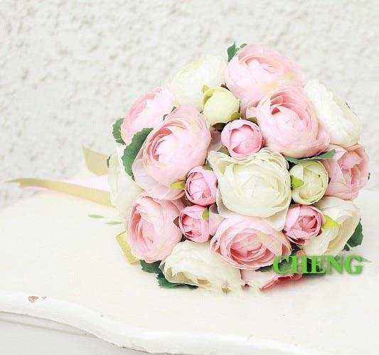 buy cheap burgundy pink yellow peony wedding bouquets beautiful wedding. Black Bedroom Furniture Sets. Home Design Ideas