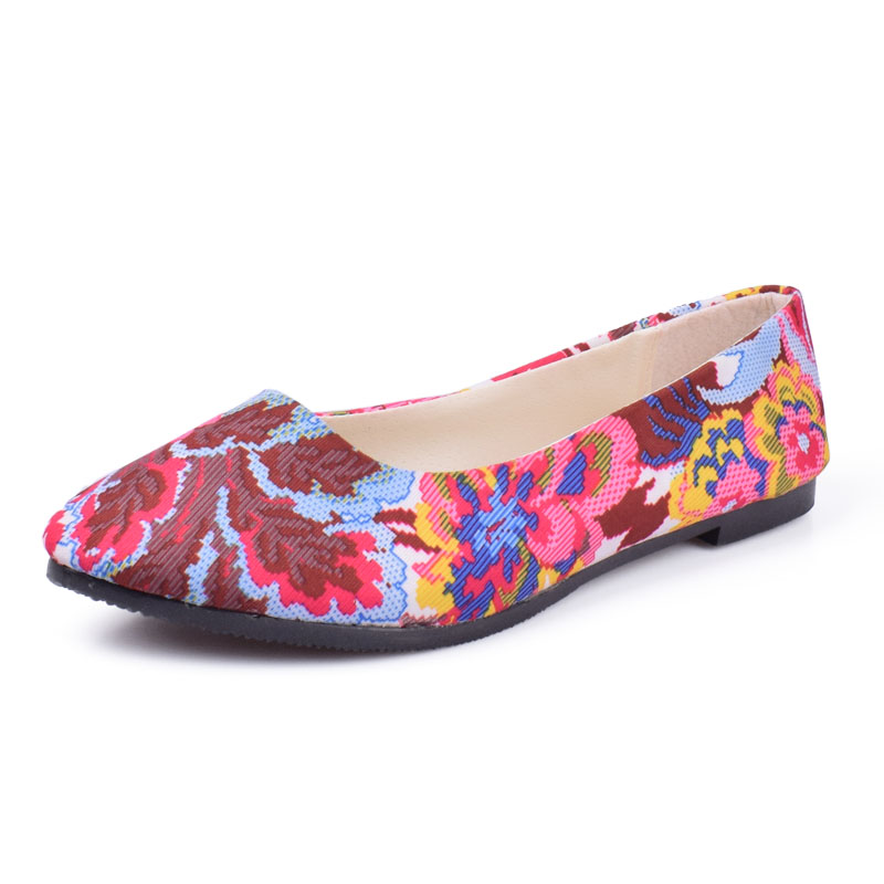 Women Flats Slip On Casual Shoes 2018 Summer Fashion Flower New Comfortable Flat Shoes Woman Work Loafers Plus Size 35-42
