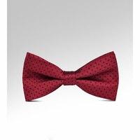 Único de la Pajarita para Los Hombres Wedding Party Accesorios de Diseñadores de Moda de Negocios Tuxedo Bowtie de Punto Rojo Vino con CAJA de Regalo de Embalaje