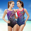 Patchwork Women One Piece Swimsuit Professional Sports Female Swimwear Slimming Bodysuit High Quality Monokini Bathing Suit