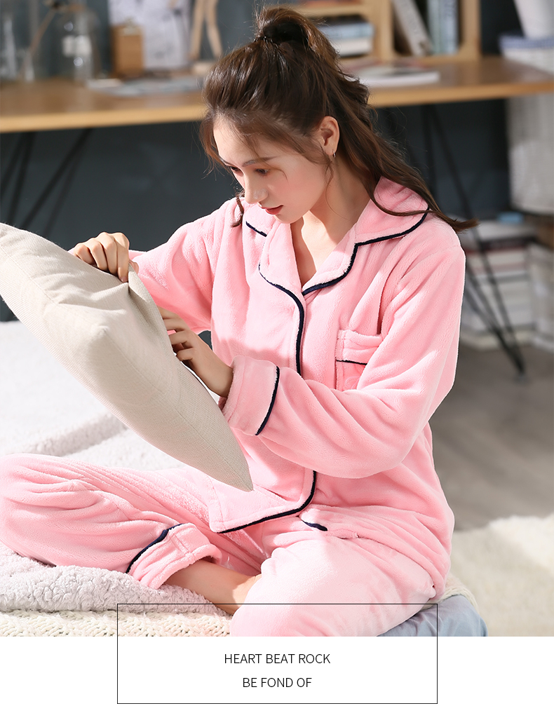 Plus Size 3XL 4XL 5XL Pajamas for women 2019 Winter Thicken Flannel pyjamas Long-sleeve lovely Sleepwear Coral Fleece Nightgowns 212