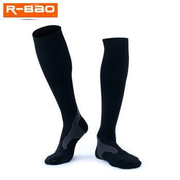 R-BAO, 1 par, calcetines largos de ciclismo para hombre, calcetines deportivos de compresión para correr, calcetines para ciclismo, calcetines para ciclismo