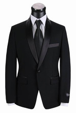 Prom Party Wear Tuxedos China Custom Made Buy Online With Price One Peice (Jacket+Pants) WB033 black men suit for wedding
