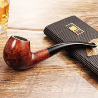 2019 New High grade J&MOER 9MM JS860 Shops selling Handmade briar pipe wooden Tobacco Smoking pipes