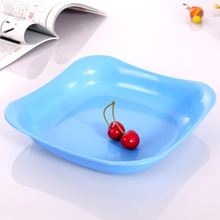 1PC 8 inch Simple creative candy color plate wholesale high quality plastic square plate dishes J0773