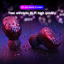 Bluetooth Wireless Earphones Headphones TWS Stereo Earbuds Handsfree Headsets Ear Phone Sports Headphone With Microphone Runing(China)
