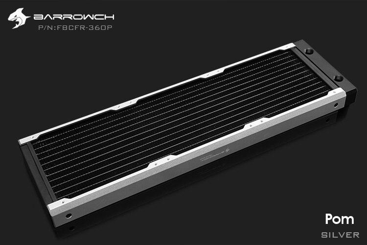 Barrowch FBCFR-360, хамелеон рыбы модульные 360 мм радиаторы, акрил/Пом съемные радиаторы, подходит для 120 мм вентиляторов - Цвет лезвия: POM-Silver