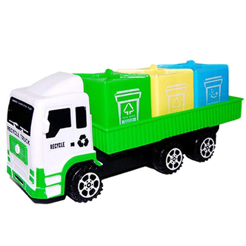 Random Color Baby Toys Funny Mini Sanitation Car Toys Truck Model Toys Early Education Toy Room Decoration Wholesale JY12#F (1)
