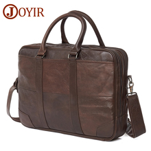 JOYIR Business Briefcase Genuine Leather Men Bag Computer Laptop Handbag Man Shoulder Messenger Bags Mens Office