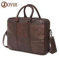 JOYIR Business Briefcase Genuine Leather Men Bag Computer Laptop Handbag Man Shoulder Bag Messenger Bags Men's Office Handbag