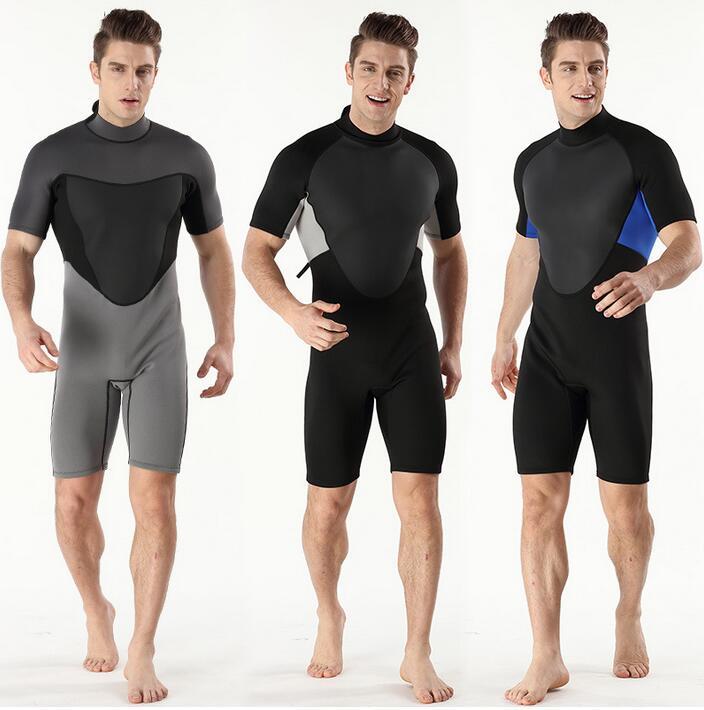 Combinaison de plongée à manches courtes en caoutchouc chloroprène 2018 2 MM pour hommes