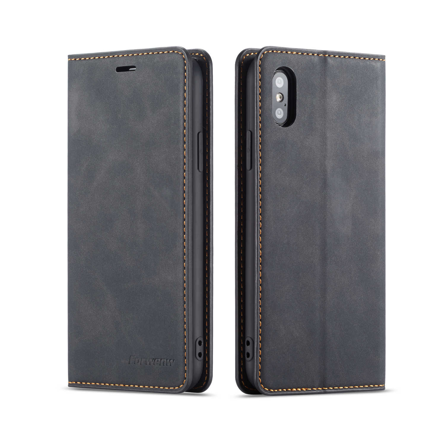 PU Leather Wallet Flip Credit Card Cover Bag for Iphone X XR XS MAX 8 7 6 6S Plus Samsung Galaxy NOTE 9 8 S9 S8 Plus Stand Case