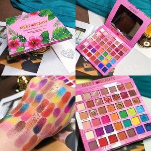 Image 1 - Palette de fards à paupières pigmentés, longue tenue, Palette de fard à paupières pigmentée, effet mat, beauté, Palette de maquillage