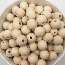 50-100PCs Natural Ball Wood Spacer Beads 6-20mm For Charm Bracelet Wholesale baby wooden round bead