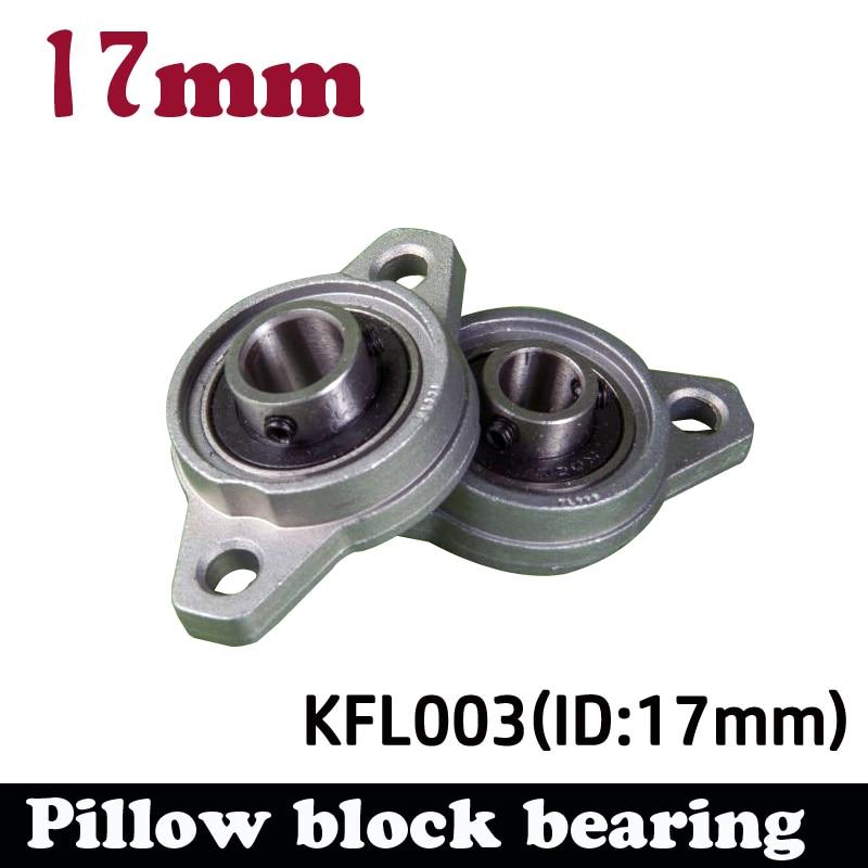 1pcs KFL003 17mm pillow block bearing zinc alloy insert linear bearing shaft support CNC part 17mm caliber zinc alloy mounted bearings kp003 ucp003 p003 insert bearing pillow block bearing housing