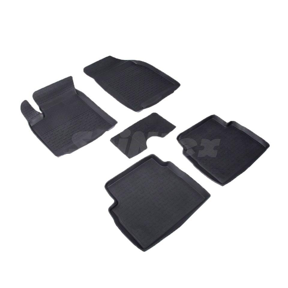 For Ravon Nexia R3 2015-2019 rubber floor mats into saloon 5 pcs/set Seintex 01473 for ravon r4 2016 2019 rubber floor mats into saloon 5 pcs set seintex 82910