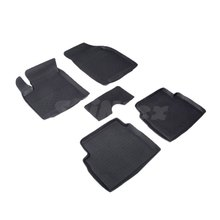 Для Ravon Nexia R3 2015-2019 резиновые коврики в салон автомобиля 5 шт./компл. Seintex 01473