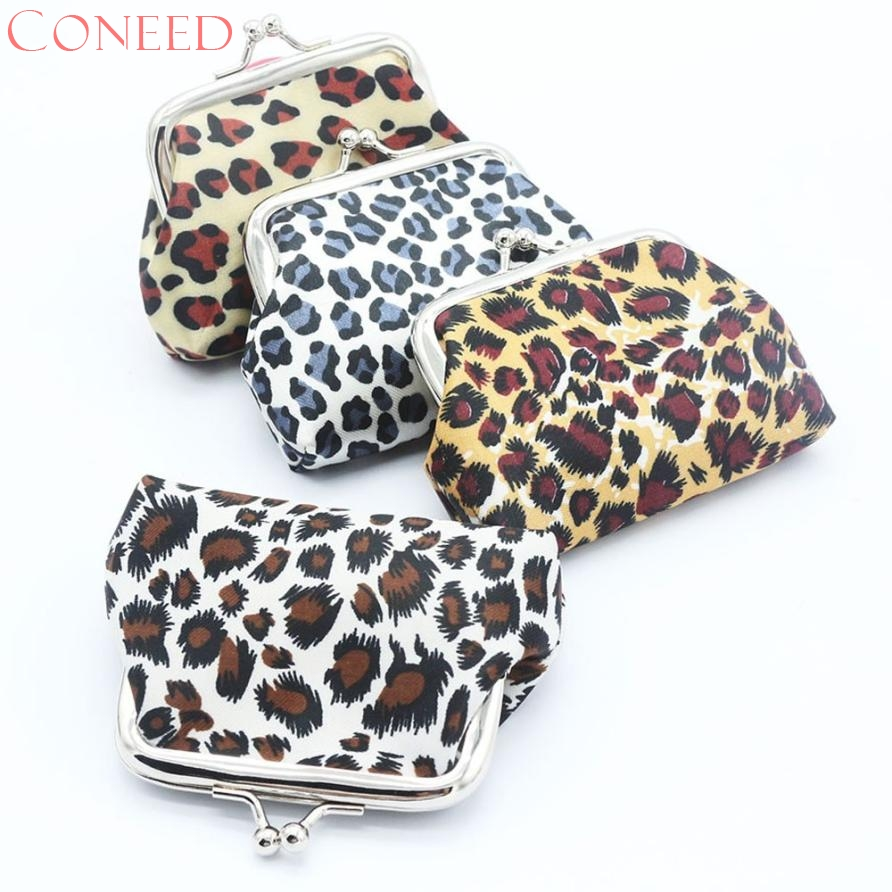 CONEED Drop Shipping Women Lady Retro Vintage Leopard Small Wallet Hasp Coin Purses Bag Best Gift Wholesale Jn2 Y20